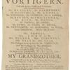Playbill for Vortigern production at the Drury Lane Theatre, ca. 1796.