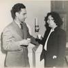 Elia Kazan with June Walker, drinking water