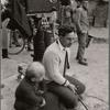 "Elia Kazan on the set of the movie ""Man on a Tight Rope."""