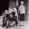 Harry Guardino (on floor), Steve McQueen and Vivian Blaine in A Hatful of Rain