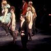 Joel Grey and cast in the stage production Cabaret.