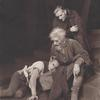 Norman Lloyd (as The Fool), Louis Calhern (King Lear), and Wesley Addy (Edgar) in the stage production King Lear.