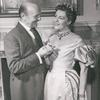 Jack Raine and Jarmila Novotna in the stage production Sherlock Holmes