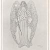 Dessin de Léon Bakst pour le costume des anges du Martyre de Saint Sebastien