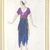 """Mme. Ida Rubinstein dans """"La Pisanelle"""" (Prolouge). Aquanelle originale de M. Léon Bakst"""