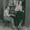 Al Siegel and Ethel Merman in rehearsals for the stage production Girl Crazy