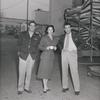 Jerry Paris, Dana Wynter, and Robert Taylor on set of the motion picture D-Day the Sixth of June
