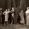 Tyrone Power, Jr., Katharine Cornell, Kent Smith and Maurice Evans as 'Dauphin' (2nd from right) in Saint Joan.