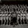 """Ethel Merman and chorus performing """"I Got Rhythm"""" in the stage production Girl Crazy."""