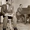 Richard Rodgers and Lorenz Hart during rehearsals for the stage production Pal Joey