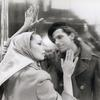 Indira Stefanianna Christopherson and Dean Pitchford in the Public Theatre stage production The Umbrellas of Cherbourg