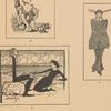 3. Cartoon of Konstantin Stanislavsky as Ratikin; 4. Cartoon of Knipper and Konstantin Stanislavsky in Life of Man