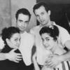 Chita Rivera, Ken LeRoy, Larry Kert and Carol Lawrence during rehearsal for West Side Story.