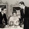 Paul Best, Dorothy Sarnoff and Ralph Herbert in Rosalinda (set design by Oliver Smith).