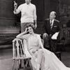 Richard Burton, Julie Andrews and Moss Hart during rehearsal for Camelot