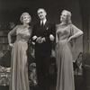 Peggy Wood, Clifton Webb and Leonora Corbett in Blithe Spirit.