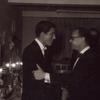 Dick Van Dyke and Charles Strause at opening night party for Bye Bye Birdie