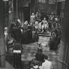 Maurice Evans (sitting on throne) and cast in the television production Richard II