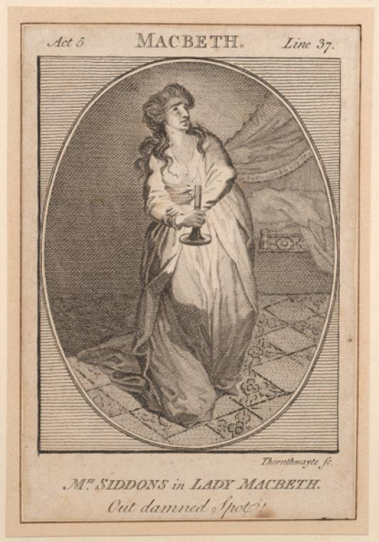Fascinating Historical Picture of Sarah Siddons in 1780