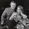 Charles Durning and Julie Harris during rehearsal of the stage production Au Pair Man