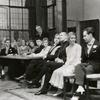 Hugh Sinclair, Irby Marshall, Margaret Wycherly, Ralph Roder, Hugh Buckler (standing), Dorothy Gish, Henry Travers, Reginald Mason, Peg Entwistle and Romney Bret (all seated) in Getting Married.