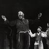 Zero Mostel and unidentifed cast members in Fiddler on the Roof.