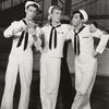 [Cris Alexander, John Battles and Adolph Green in On the Town (set design by Oliver Smith)]