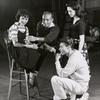 Jerome Robbins (center) and unidentified cast members during rehearsal for West Side Story.
