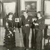Rudolph Valentino with two unidentified women.