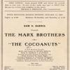 Sam H. Harris presents the Marx Brothers in The cocoanuts