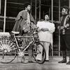 Clifton Davis (left) and unidentified actors in the stage production Two Gentlemen of Verona