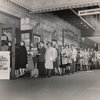 Audience line outside the Majestic Theatre for the stage production Allegro, ca. 1947.