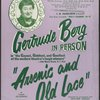 "Gertrude Berg in person...""Arsenic and old lace"""