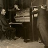 Richard Rodgers at piano with two unidentified men