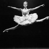 "Ballet dancer Sylvie Guillem in scene from the ballet ""Swan Lake"" as performed with Paris Opera Ballet Company at the Metropolitan Opera."