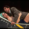 """Actors Griffin Dunne and Jane Fleiss in scene from the play """"Search and Destroy"""""""