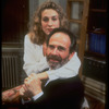 "Actors Ron Rifkin and Sarah Jessica Parker in scene from the play ""The Substance of Fire"""