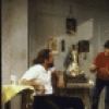 """(L-R) Actors Robert De Niro, Ralph Macchio, and urt Young acting in the New York Public Thaeter production of the play """"Cuba and His Teddy Bear."""""""
