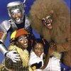 "Actors (Top-Bottom) Ben Harney, Gregg Burge, Stephanie Mills & Ken Prymus in a publicity shot fr. the replacement cast of the Broadway musical ""The Wiz."" (New York)"