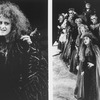 "COMPOSITE PIC: Actress Bernadette Peters made up to look like a witch; with other cast members, incl. Chip Zien and Joanna Gleason (2R-R) in two scenes from the TV production of the Broadway musical ""Into The Woods.""."