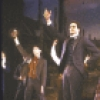 """Actors (Front L-R) Howard McGillin and George Rose with cast in a scene from the New York Shakespeare Festival's production of the musical """"The Mystery of Edwin Drood."""" (New York)"""