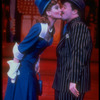 "Actors Faith Prince and Nathan Lane kissing in scene fromBroadway musical revival ""Guys and Dolls""."