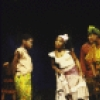 "Actors (L-R) Afi McClendon, Andrea Frierson, Kecia Lewis-Evans, Eric Riley, Nikki Rene & Milton Craig Nealy (rear) in a scene fr. the Playwrights Horizons' production of the musical ""Once On This Island."" (New York)"