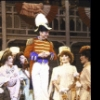 """Actor Donald O'Connor (C) with cast in a scene from the Pre-Broadway tour of the 1983 Broadway revival of the musical """"Showboat."""""""