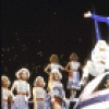 "Actor Don Correia (C) w. the Rockettes in a scene fr. the  Radio City Music Hall revue ""5-6-7-8- Dance!."" (New York)"