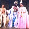 "Actors (L-R) Eartha Kitt, Ira Hawkins & Melba Moore in a scene fr. the Broadway musical ""Timbuktu!."" (New York)"