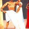 "Actors Eartha Kitt & Tony Carroll in a scene fr. the Broadway musical ""Timbuktu!."" (New York)"