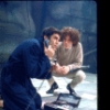 "Actors Cliff Gorman (as comedian Lenny Bruce) and Paul Lieber in a scene from the Broadway play ""Lenny."" (New York)"