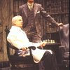 "Actors (L-R) Dillon Evans & Alan Coates in a scene fr. the Broadway revival of the play ""Dracula."" (New York)"