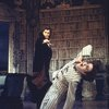 "Actors (L-R) Frank Langella & Richard Kavanaugh in a scene fr. the Broadway revival of the play ""Dracula."" (New York)"